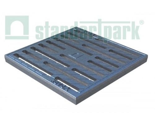 Решетка водоприемная Basic РВ-28.28 щелевая чугунная СЧ оцинкованная, кл.С 333006
