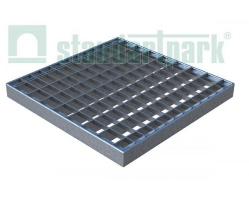 Решетка водоприемная Basic РВ-28.28 ячеистая стальная оцинкованная 3320