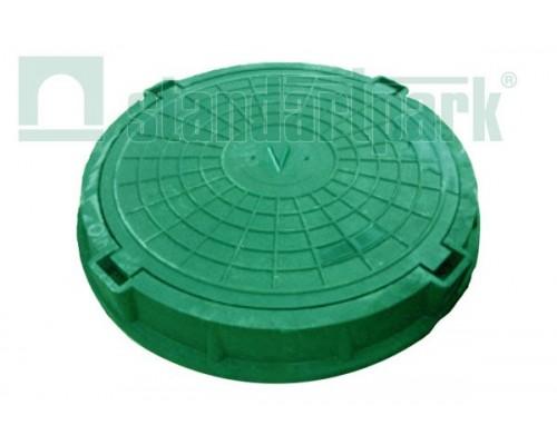Люк полимерно-композитный (средний) зеленый