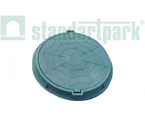 Люк полимерно-композитный легкий для смотровых колодцев зеленый 750х70