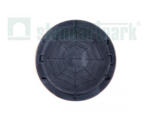 Люк полимерно-композитный легкий для смотровых колодцев черный