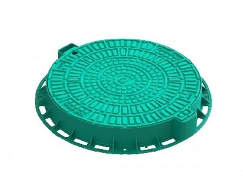 Люк садовый пластиковый зелёный «Лого»