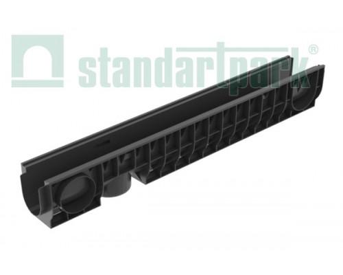 Лоток водоотводный PolyMax Basic ЛВ-10.16.16-ПП пластиковый 8000