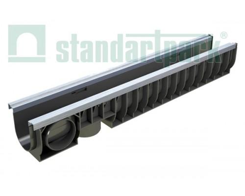 Лоток водоотводный PolyMax Basic ЛВ-10.16.16-ПП пластиковый усиленный 8007