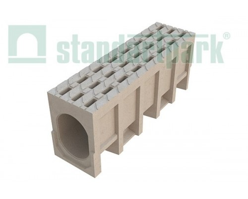 Блок монолитный водоотводный CompoMax БМВ-20.29.34-П ячеистый полимербетонный