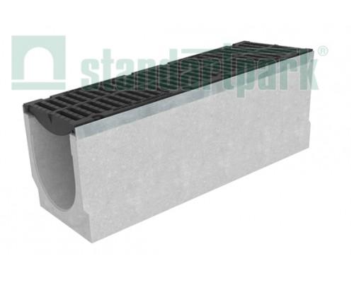 Лоток водоотводный BetoMax ЛВ-30.38.36-Б бетонный с решёткой щелевой чугунной ВЧ кл. D (комплект) 04752