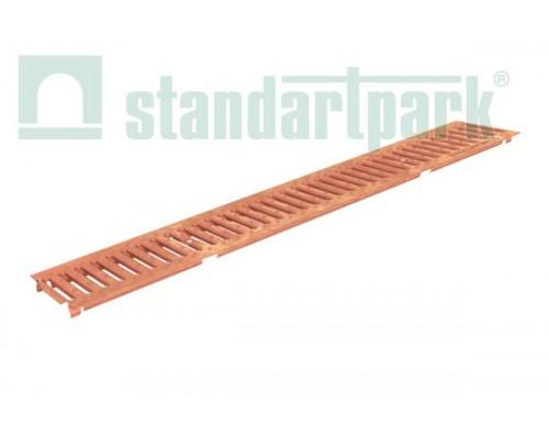 Решетка водоприемная Basic РВ-10.14.100-К- штампованная медная 20601