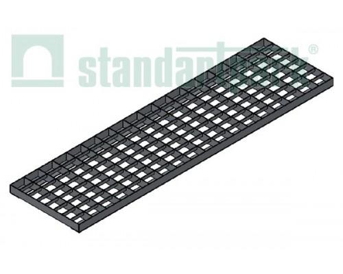 Решетка водоприемная Basic РВ-20.27.100.5.3 стальная оцинкованная ячеистая 55х33, кл. А 252019