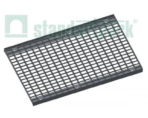Решетка водоприемная Basic РВ-50.63.100.5.3 стальная оцинкованная ячеистая 55х33, кл. А 292019