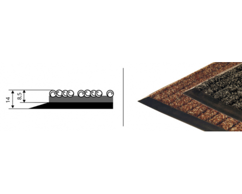 Грязезащитные ковры высокие полосатые Штрих