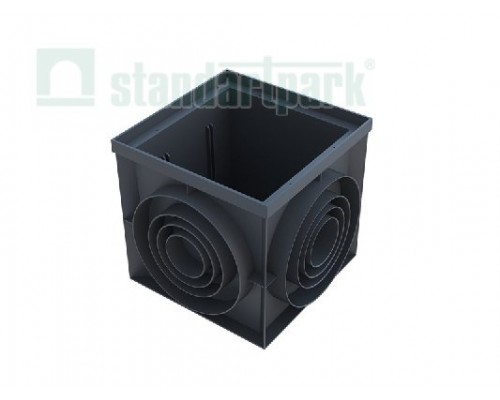 Пластиковый дождеприемник-пескоуловитель PolyMax Basic 400х400 (угловой)