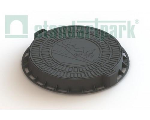 Люк садовый пластиковый черный «Д»