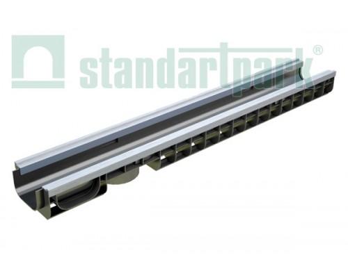 Лоток водоотводный PolyMax Basic ЛВ-10.15.08-ПП пластиковый усиленный 8017