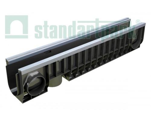 Лоток водоотводный PolyMax Basic ЛВ-10.16.20-ПП пластиковый усиленный 8047