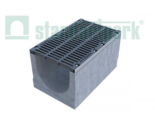 Лоток водоотводный BetoMax ЛВ-50.64.56-Б бетонный с решёткой щелевой чугунной ВЧ кл. Е (комплект) 04950
