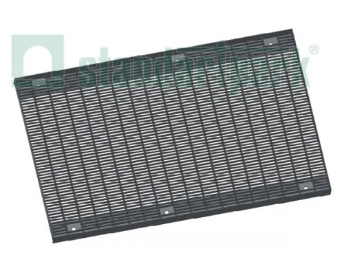 Решетка водоприемная Basic РВ-50.63.100.5.1 стальная оцинкованная ячеистая 55х11, кл. А 292019.1