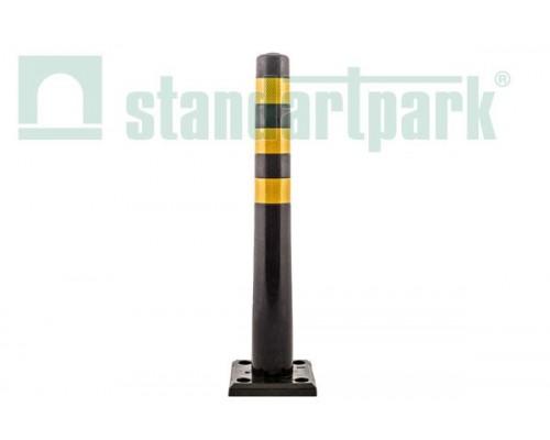 Столбик гибкий черный 750мм с квадратным съемным основанием