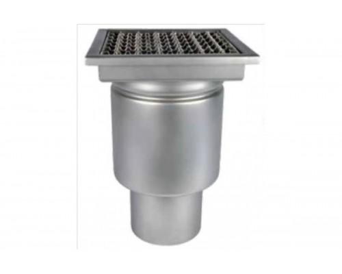 Трап профессиональный 300х300 с вертикальным выпуском ∅ 160мм однокорпусный